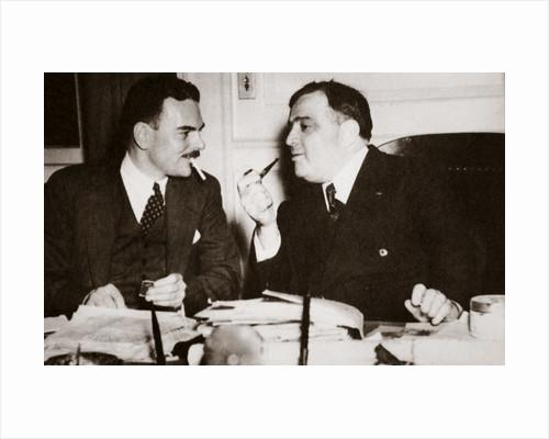 Thomas E Dewey with Fiorello H La Guardia, Mayor of New York by Anonymous