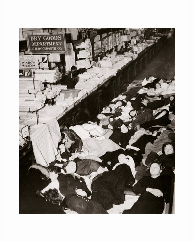 Girl employees of Woolworth's five and dime store by Anonymous