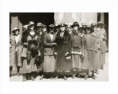 Female telephone operators on strike in Boston by Anonymous
