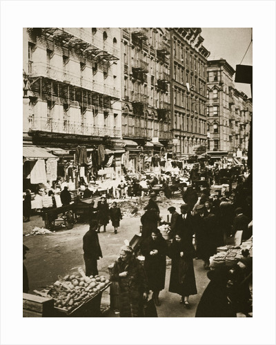 Street market on Orchard Street by Frederick Bradley