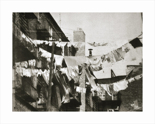 Wash day at some New York tenement buildings by Anonymous