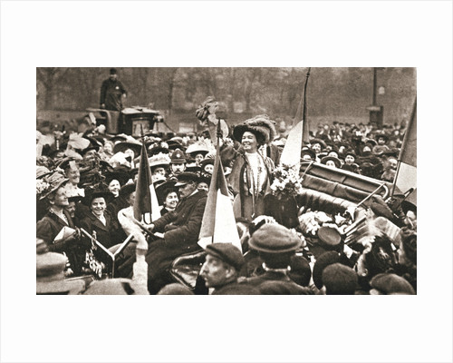 Britsh suffragette Emmeline Pethick-Lawrence's release from prison by Anonymous