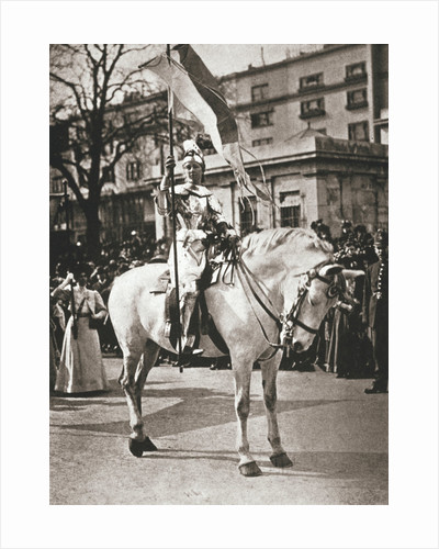 British suffragette Elsie Howey as Joan of Arc by Anonymous