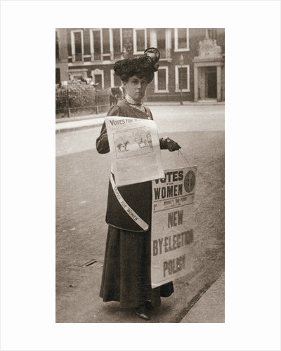 Miss Kelly, a suffragette, selling Votes for Women by Anonymous