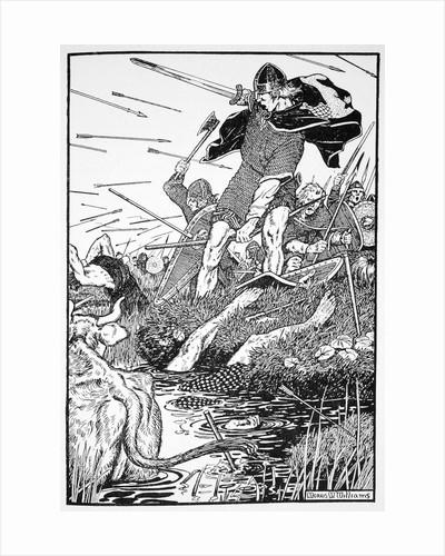 King Magnus in the marsh at Downpatrick by Morris Meredith Williams