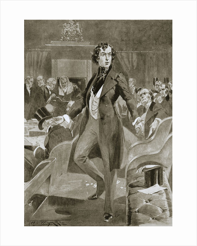 Disraeli's first speech in the House of Commons by Anonymous