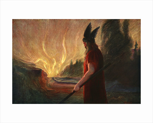 As the Flames Rise, Wotan Leaves by Anonymous