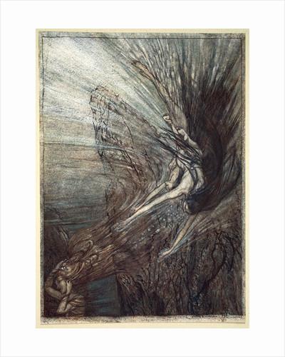 The frolic of the Rhine-Maidens by Arthur Rackham