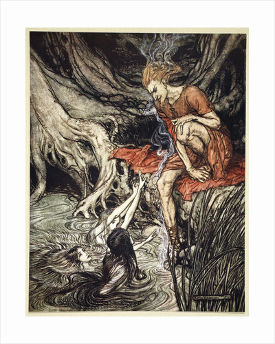 The Rhine's pure gleaming children told me of their sorrow by Arthur Rackham