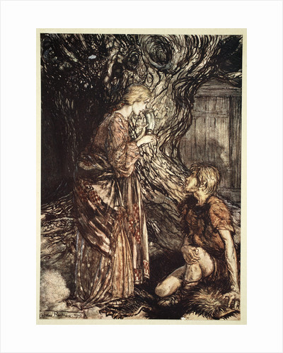 This healing and honeyed draught of Mead deign to accept from me by Arthur Rackham