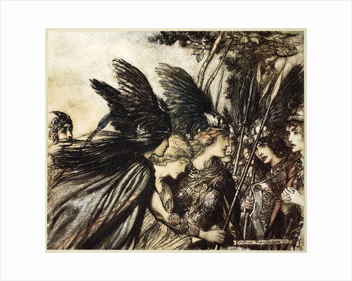 I flee for the first time and am pursued by Arthur Rackham