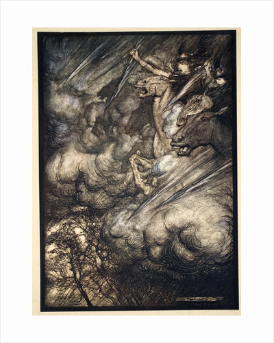 The ride of the Valkyries by Arthur Rackham