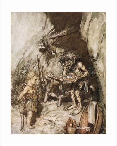Mime and the infant by Arthur Rackham