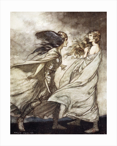 The ring upon thy hand - ..ah be implored! For Wotan fling it away! by Arthur Rackham