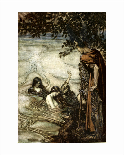 Illustration from Siegfried and the Twilight of the Gods by Arthur Rackham