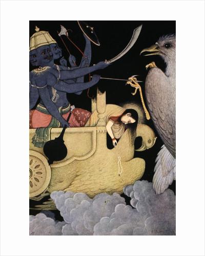 Ravana fighting with Jatayu by K Venkatappa