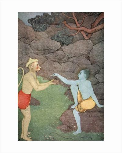 Rama sending his signet-ring to Sita by K Venkatappa