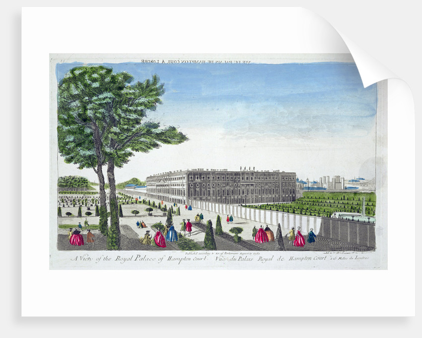 A view of the Royal Palace of Hampton Court by Anonymous