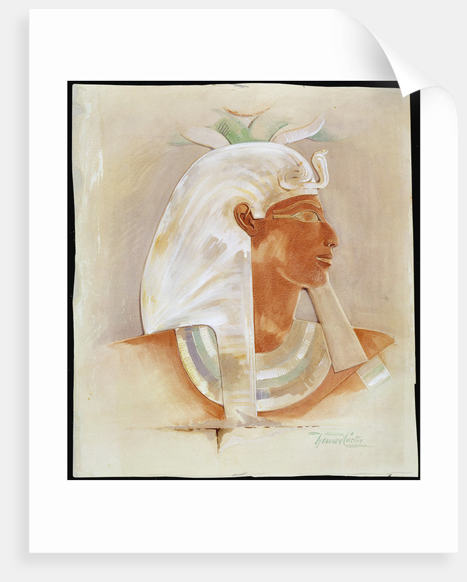 Head of the Ancient Egyptian Queen Makare Hatshepsut by Howard Carter