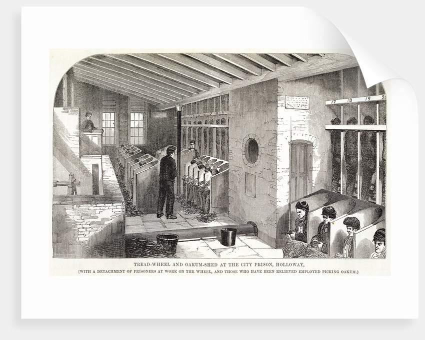 Tread-Wheel and Oakum-Shed at the City Prison, Holloway by Anonymous