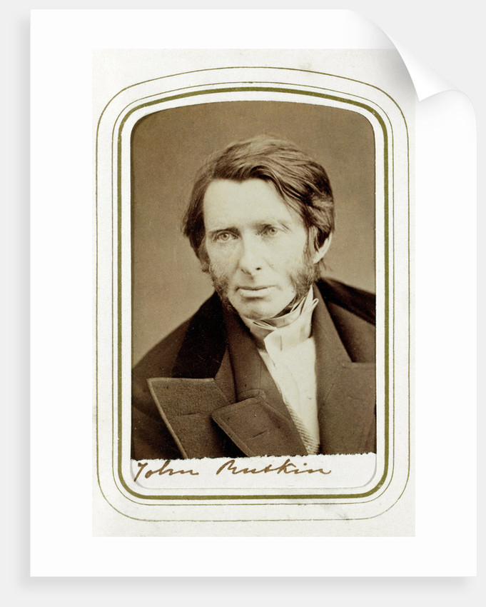 John Ruskin, English artist, poet and critic by Elliott & Fry