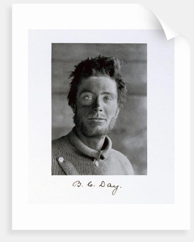 Bernard C Day, a member of Captain Scott's Antarctic expedition by Herbert Ponting