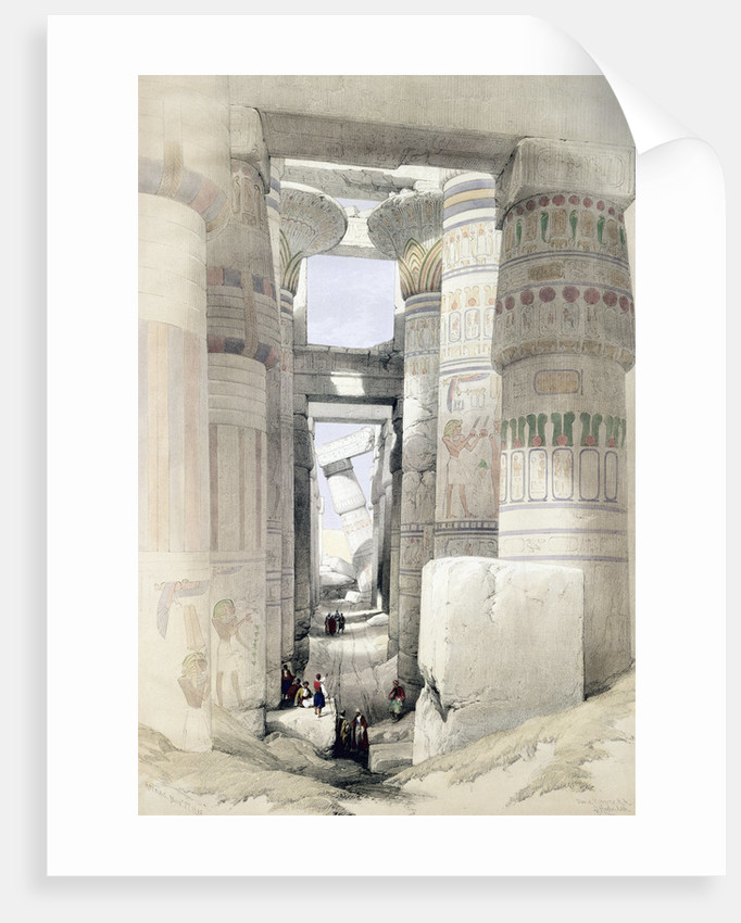 View through the Hall of Columns, Karnak by David Roberts