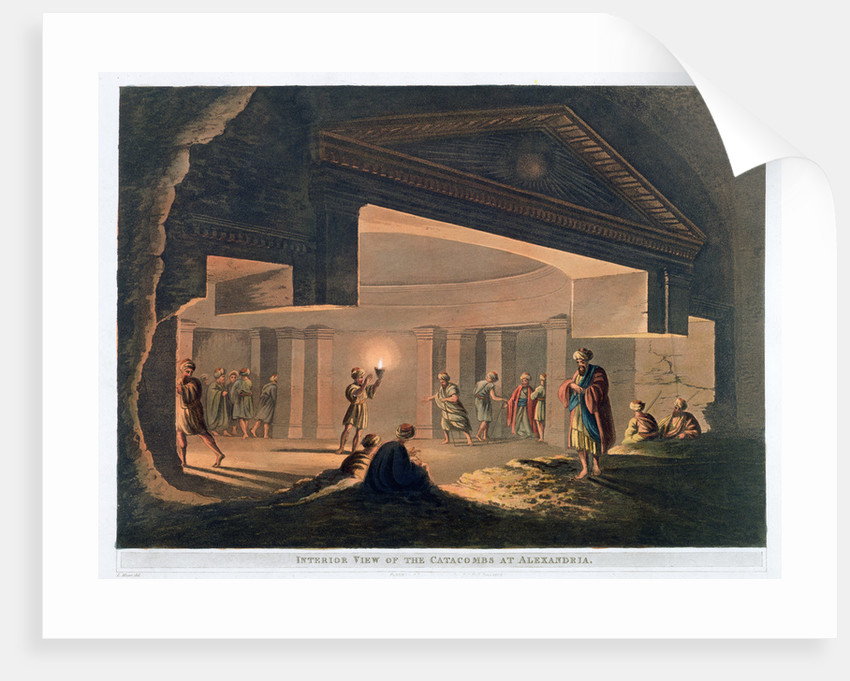 Interior View of the Catacombs at Alexandria by Thomas Milton