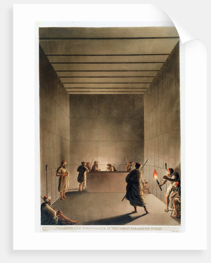 Chamber and Sarcophagus in the Great Pyramid of Giza by Thomas Milton