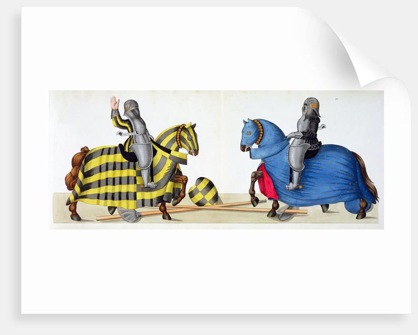 Two knights at a tournament by Friedrich Martin von Reibisch