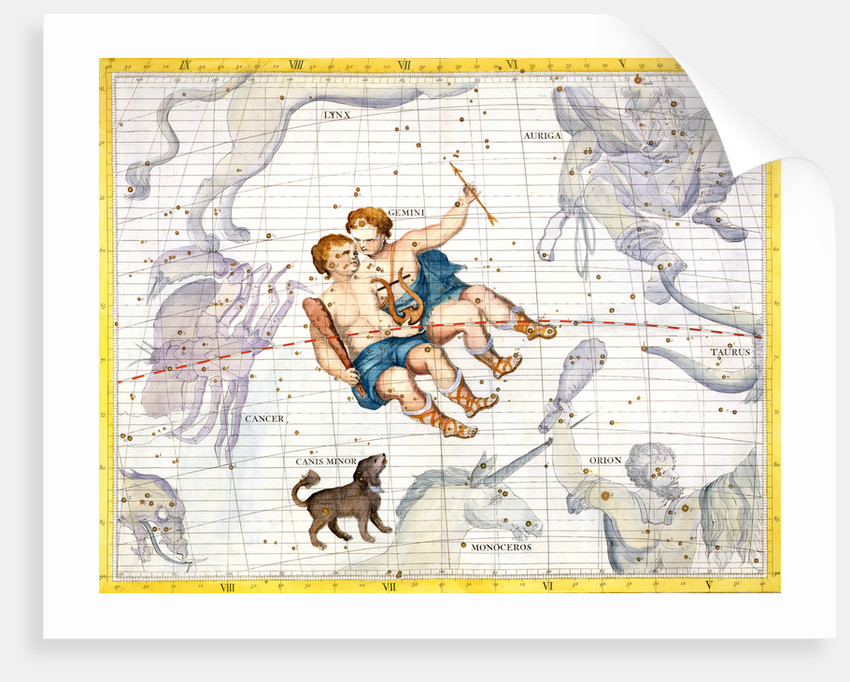 Constellations of Gemini and Canis Minor by Anonymous