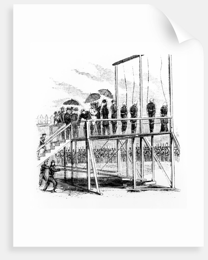 Hanging of the Lincoln assassination conspirators by Anonymous