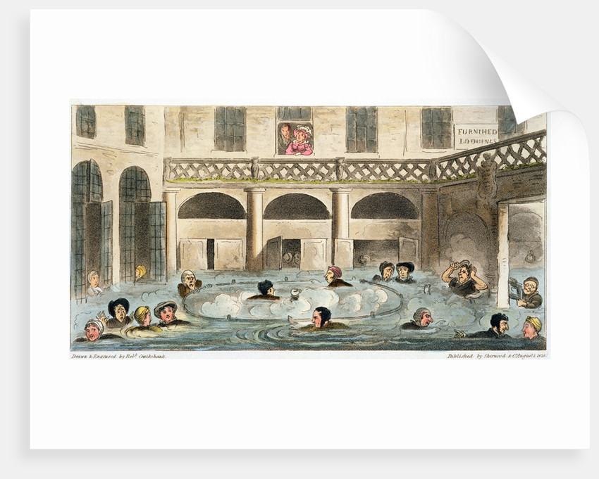 Public Bathing at Bath, or Stewing Alive by Isaac Robert Cruikshank