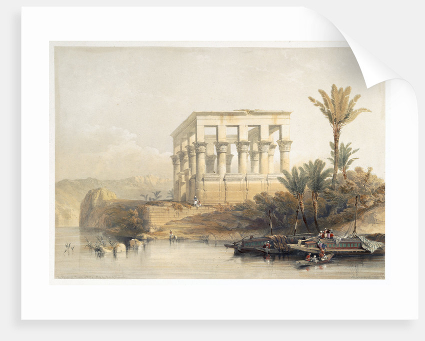 The Hypaethral Temple at Philae by David Roberts