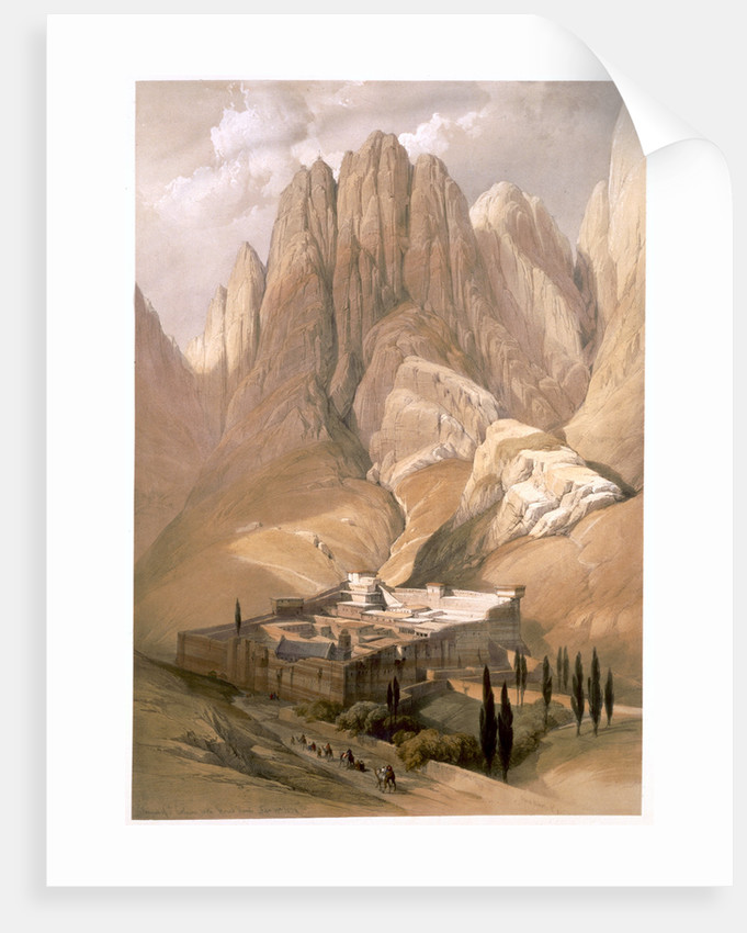 Convent of St Catherine with Mount Horeb by Louis Haghe