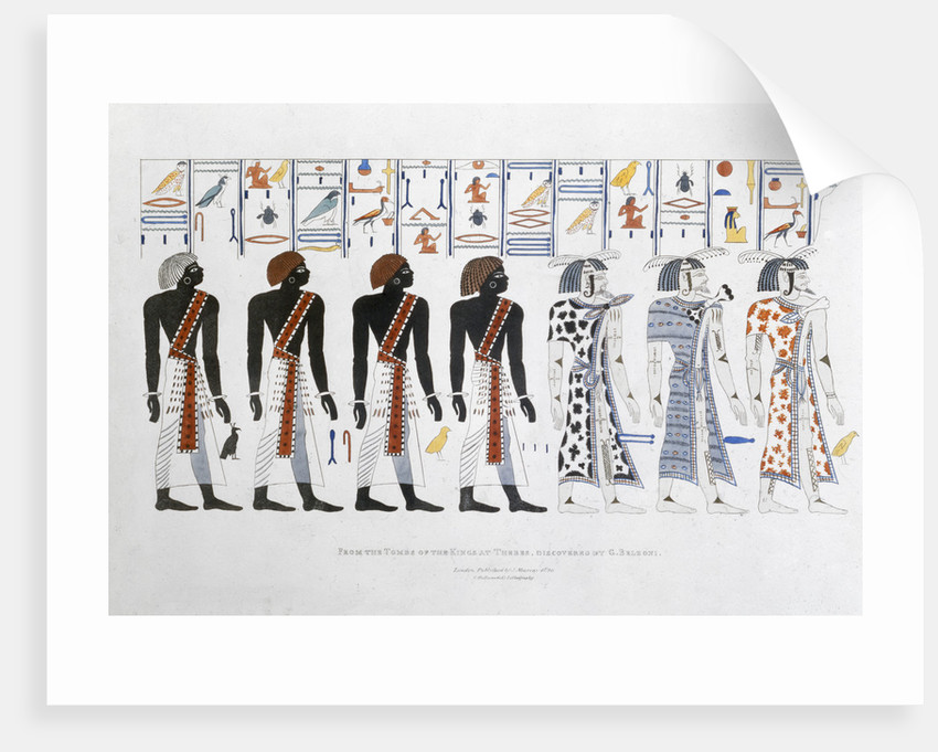 Hieroglyphics from the Tombs of the Kings at Thebes by Charles Joseph Hullmandel