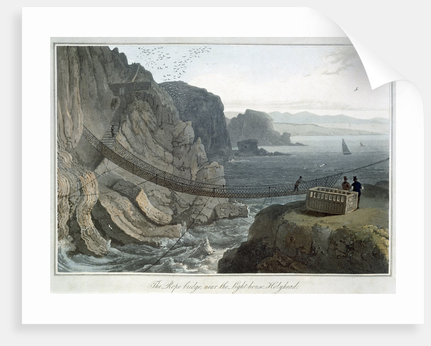 The Rope Bridge near the Lighthouse by William Daniell