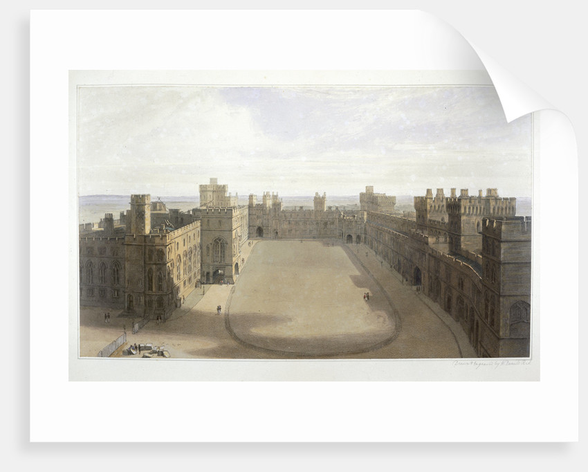 Looking onto the Quadrangle at Windsor by William Daniell