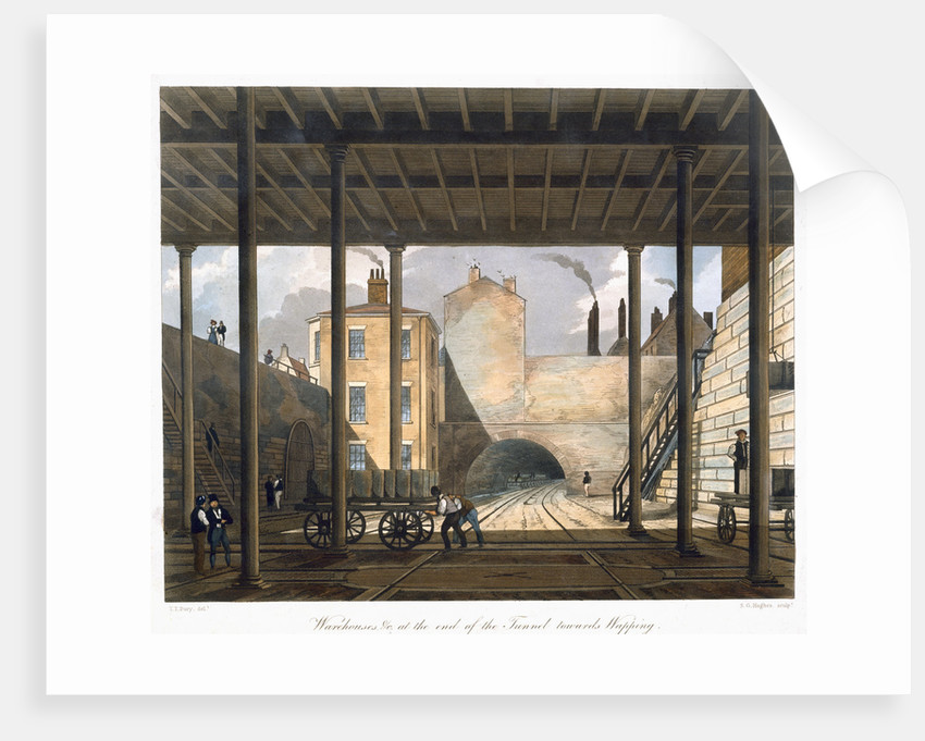 Warehouses etc at the end of the Tunnel towards Wapping by SG Hughes