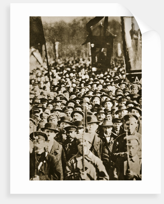 Russian revolutionaries in Petrograd (St Petersburg) by Anonymous