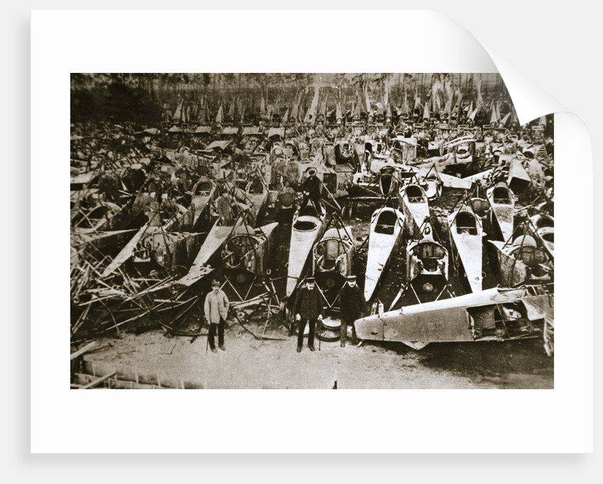 German war materiel destroyed under the terms of the Armistice by Anonymous