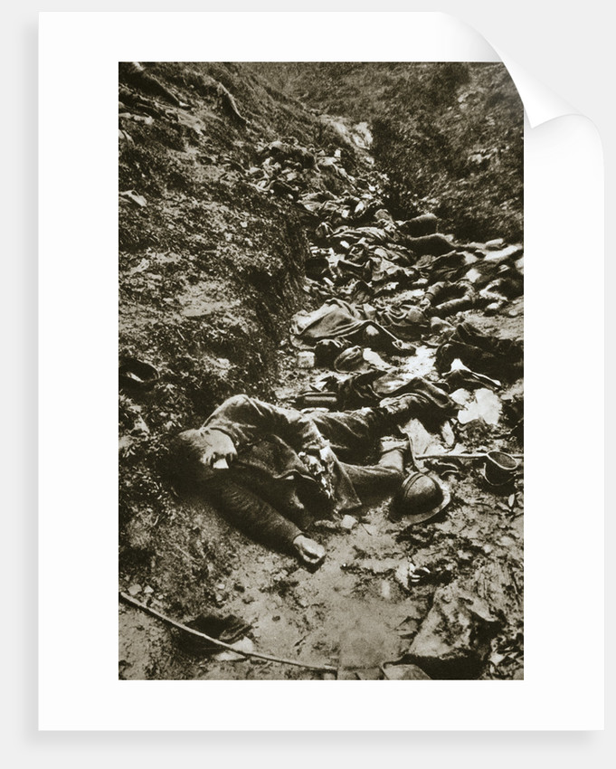 Italian dead at Cividale by Anonymous