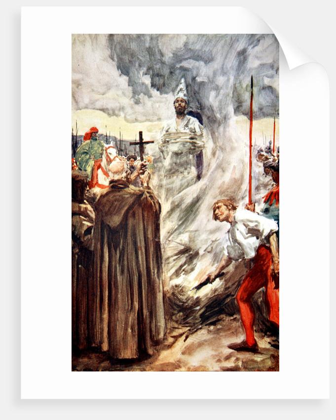 The burning of John Huss by Arthur C. Michael