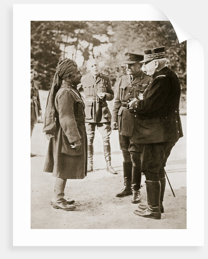 general sir douglas haig introducing general joffre to lieutenant general sir pertab singh by anonymous