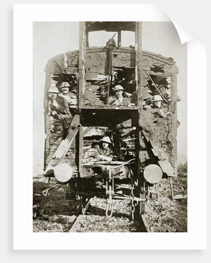 Captured German railway carriage by Anonymous