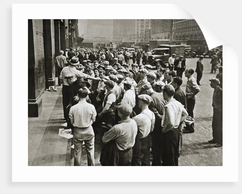 Longshoremen being picked out by a boss by Anonymous