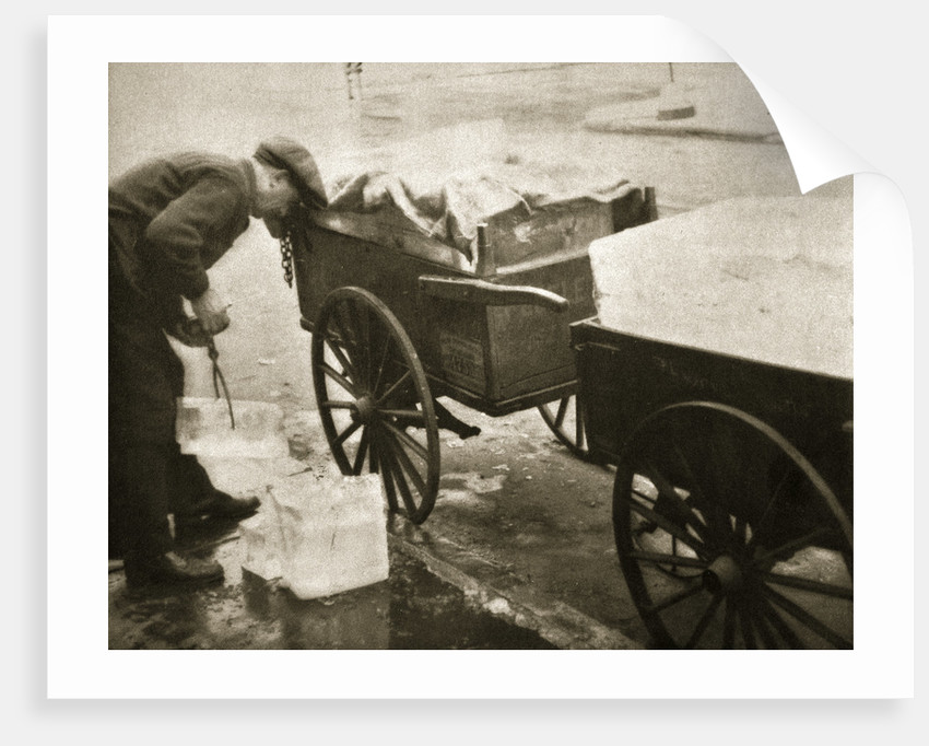 Ice man making his morning deliveries in West 10th Street by Anonymous
