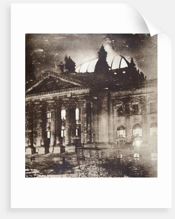 The Reichstag on fire by Anonymous