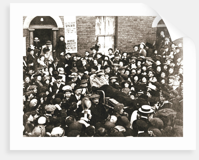 Sylvia Pankhurst, British suffragette, in a bath chair by Anonymous