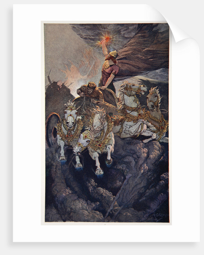 Merodach sets forth to attack Tiamat by Ernest Wellcousins